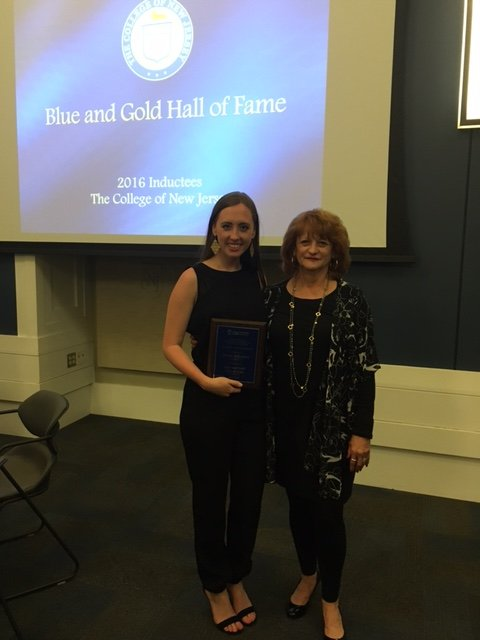 WILL Member Jennie Francis is 1 of 12 students to enter TCNJ's Blue & Gold Hall of Fame for 2016!