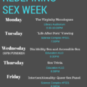 Redefining Sex Week 2017- Information available now!